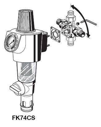 Фильтр обратной промывкой и редуктором давления FK74СS