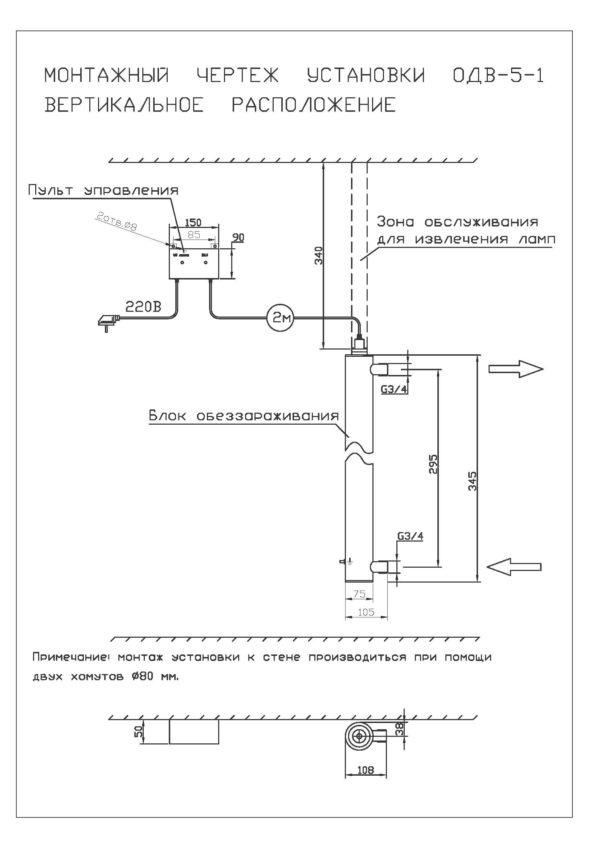 Установка обеззараживания воды ОДВ 1 м3/час.