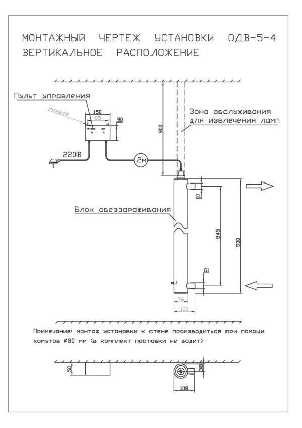 Установка обеззараживания воды ОДВ 4,0 м3/час.