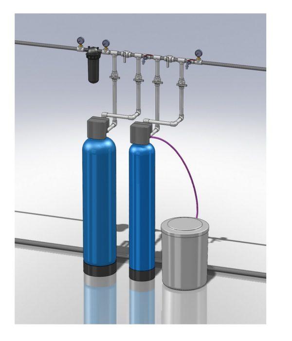 Комплекс очистки воды от железа и жёсткости на 1.5-2.5 Куб/час