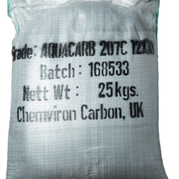 Гранулированный активированный уголь в мешках 50 л., или 25 кг.(Индия)