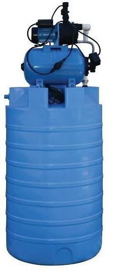 Автоматическая насосная станция с накопительной ёмкость на 500 литров JP 600PA-24L
